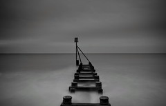 Tranquility (hall1705) Tags: tranquility sea sussex shore seascape seaside blackwhite westsussex longexposure le structure water beach mono d3200