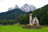 Church of St. John of Nepomuk in Ranui, Val di Funes, Dolomites, Italy (GSB Photography) Tags: church sangiovanni stjohann italy funes bolzano dolomites johnofnepomuk trentino baroque valley worship mountains peaks forest pasture greaterdolomitesroad valdifunes building serene serenity shrine trees 100v10f 250v10f 500v20f 1000v40f 1500v60f nikon d60 3000v120f saariysqualitypictures