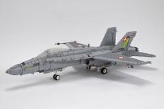 McDonnell-Douglas F-18C Hornet (1) (Dornbi) Tags: lego aircraft mcdonnell douglas f18 fa18 hornet switzerland swiss schweiz solo display j5009