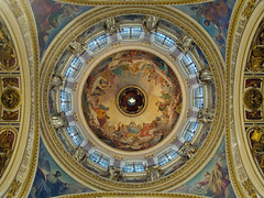 "Russia, Saint-Petersburg. The Cathedral of Reverend Isaac of Dalmatia (Isaac's). Main dome plafond: K. P. Briullov, ""The Virgin Surrounded by Saints"". January 6, 2011 (Igor Borisovich Abramov) Tags:                     wikipedia wiki    12 russia russianfederation stpetersburg beauty religion temple church splendor cathedral delight admiration brullov basin stisaacscathedral thecathedralofstisaacofdalmatia ceiling dome maindome virgin theapostles thesaints the12apostles"