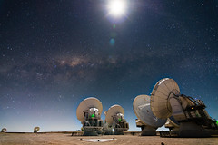ALMA at night (ansack) Tags: antenna antennas alma night desert atacamadesert chile astrophotography astronomy science