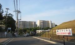 Koridanchi District 1755 (Tangled Bank) Tags: koridancho hirakata japan japanese asia asian town city suburban residential buildings architecture structure condominium apartment sign signage street