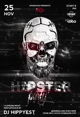 Hipster Party Poster (DesignerwooArt) Tags: 300dpi 3d abstract advertising alien alternative artwork bass broken city cmyk design dj dope download drum electro event fest festival flyer free future futuristic galaxies galaxy geometry high hiphop house invitation man manipulation minimal minimalist minimalistic modern music party photoshop poster print psd rap rock sky smoke sound sounds space tech techno template trap triangle triangles trippy universe urban dubstep geometrix art hipster robot