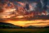 Last rays of light in the mountainous region (* mariozysk *) Tags: mountains hills góry wzgórza polska poland sudety fields pola pentax k5 niebo zachód słońca ♡