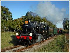 Trick or treat? (Jason 87030) Tags: ivatt steam smoke kettle pumpkin halloween orange br britichrailwaysrail lms black locomotive island iow isleofwight steamrailway 2deacons lane october 2016