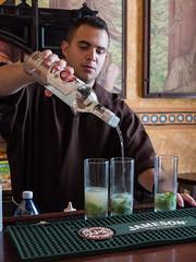 "Monks make the best Mojitos at the Hotel Los Frailes, ""Monk Hostel"",  Old Havana, Cuba, June 2, 2016. (bobd2h) Tags: cuba havana hotellosfrailes monkhostel oldhavana frailes mojito mojitos monk monkhotel cub"