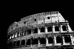 Colosseum, Rome (photoautomotive) Tags: italy2015 italy rome roma europe building blackandwhite infrared ir monochrome outside old outdoor arches ancient colosseum sky roman romans emperorvespasian startedinad72finishedin80ad