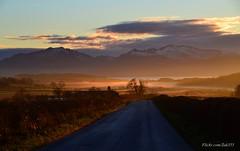 (Zak355) Tags: rothesay isleofbute bute scotland scottish sunset fog weather mist hills snow