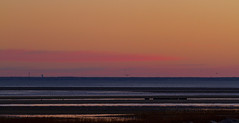 Lines Before Dawn (brucetopher) Tags: sunrise sunset sky colors glow afterglow lines pattern blue water sea ocean beach bay coast coastal seacoast cloud skies saltwater saltmarsh