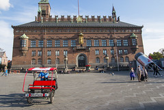 Man-powered Transportation (HansPermana) Tags: copenhagen denmark scandinavia cityhall city cityscape citycenter town oldbuilding oldtown square rathaus people crowd