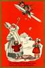 Krampus on Sputnik (Alan Mays) Tags: ephemera postcards greetingcards greetings cards christmascards paper printed christmas xmas december25 holidays stnicholas saintnicholas nicholas staffs mitres miters clothes clothing santaclaus santa men beards hats krampus devils horns sputnik rockets flying space children girls boys crying pretzels austria austrian germany german illustrations borders strange unusual red gold 1961 1960s antique old vintage typefaces type typography fonts