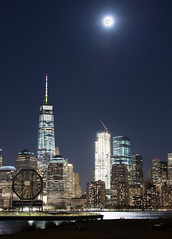The World Trade Center Supermoon (mg5thave) Tags: supermoon 2016 worldtradecenter wtc manhattan nyc fidi financial district city scape jersey hudson river libertystatepark morris canal park