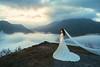 [somewhere in Himeji] upon cloud (pooldodo) Tags: wedding prewedding himeji cloud sky bride sunrise 雲海 海外婚紗 japan 破渡 taotzuchang pooldodo