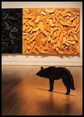 """That Distinctive Line....."" (Note-ables by Lynn) Tags: ago artgalleryofontario toronto art sculpture metalsculpture contrast goldandblack"