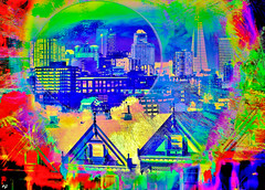Moon Over Frisco (Rob Goldstein - slowly catching up) Tags: urbanart abstract artist art awesome best artbyrobgoldstein color colorful california canon sanfrancisco californa urbex photoprocessing photoprocess digitalart digitalpainting