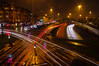 Wet Again (Brian Travelling) Tags: lighttrails junction road roads street lights glasgow outdoors cityscape city scotland reflection wet