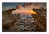 Sunrise Curtains (glank27) Tags: sunrise rocks malta stpeters pool sea formations karl glanville seascape landscape peace sky clouds quite delimara 2016 water boulders ngc
