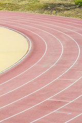 Athletic field (Brother's Art) Tags: competitivesports crease curves grass lane meadow playingfield runningtrack singleline sportstrack sportsvenue stadium trackandfield trackandfieldstadium vertical withoutpeople outdoors parallel road