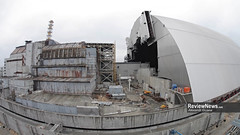 GOV42848 (avgusew) Tags: chernobyl disaster plant nuclear object power arch shelter reactor sarcophagus energy landscape view building construction air photo over station safe explosion aerial infrastructure fourth ukrainian atomic catastrophe tragedy pant confinement anniversary april ukraine kiev 2016 radiation radioactive