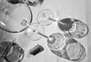 Time to go home.. (KronaPhoto) Tags: 2016 høst samsung arguineguin canarias spain bnw bw table glasses shadow shapes skygger pattern light circles empty tomt vin vinglass wineglasses