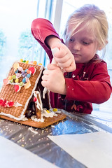 Sidney the Builder (2ToneEng) Tags: kid kids fun christmas gingerbreadhouse canon 5dmarkiv candy focused v3pbc
