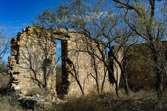 old walls (Windswept.west) Tags: barnheart texas stonework building mesquite blue limestone fall doorway nikond5200 tamron247028