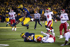 IMG_8515 (samiistoloff) Tags: football michigan michiganfootball maize umich emotion jimharbuagh jumpman uofmich theteam ncaa nike bigten bigtennetwork btn btnxtakeover blue harbuagh celebration wolverines class project aptop25 rain jordan photographer si110 sports likes photos white red photo indiana hoosiers jakebutt snow