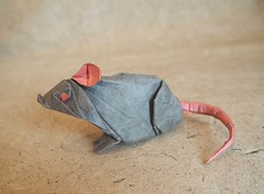 Origami Rat (Lonely-Shiba) Tags: origami original