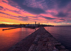 St Andrews Day, St Andrews (Colourblind Chris) Tags: st andrews sunset pier fife scotland