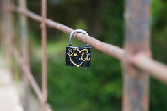 ST♥LT (Pittypomm) Tags: bridge metal fence rust heart padlock lovelock hff