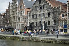 Exploring Ghent - Graslei - medieval harbour (VISITFLANDERS) Tags: europe belgium flanders visitflanders ghent exploring accessibility wheelchair historic artcity water