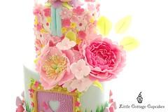 Peonies (Little Cottage Cupcakes) Tags: birthday party flower cakes cake garden cupcakes pastel peony fairy birthdaycake fairies magical gardenparty enchanted peonies fondant cupcaketower sugarart flowerfairy tieredcake fairycake sugarpaste cakeart girlcake littlecottagecupcakes