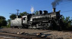 Frisco 1630 Reverse Pass (Chris Skrundz) Tags: railroad chicago museum night train illinois union railway steam locomotive frisco 2100 decapod 1630