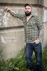 Photo shoot w Sam (Shawn Collins Photography) Tags: bear portrait hairy beard cub model photoshoot modeling masculine manly otter flannel stare plaid tough photosession rugged malemodel scruff bearcub hairychest outdoorsy lumbersexual