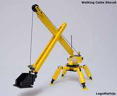 01_Walking_Cable_Shovel (LegoMathijs) Tags: scale yellow walking bucket lego crane cable mining equipment micro scifi shovel miners moc ores foitsop legomathijs
