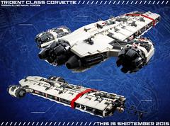 "ANF ""Trident"" Class Corvette (-=Steebles=-) Tags: ship lego micro scifi moc microspace microscale foitsop microspacetopia shiptember"