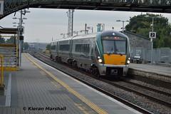 22053 approaches Portlaoise, 14/9/15 (hurricanemk1c) Tags: irish train rail railway trains railways irishrail rok rotem portlaoise 2015 icr iarnród 22000 22053 éireann iarnródéireann 3pce 0615corkheuston corkexpress
