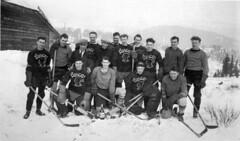 Luscar Hockey Team (Provincial Archives of Alberta) Tags: hockey icehockey alberta