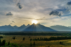 The Promise Land (jimmynotjim) Tags: park trees sunset sky sun mountain clouds landscape nationalpark grand national wyoming wilderness teton tetons grandteton 500px ifttt