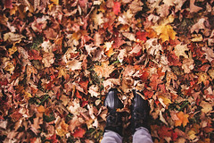 Fragment of Autumn (Gabriela Tulian) Tags: autumn red orange woman color fall nature girl beautiful leaves yellow lady season fun carpet outside outdoors happy leaf healthy october pretty adult natural legs boots joy young lifestyle style happiness scene wreath cheerful enjoyment caucasian