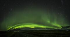Icelandic Aurora (plndrw) Tags: iceland fuji fullframefisheye icelandicaurora