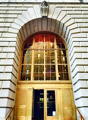 The magnificent Cunard line building, lower Manhattan, NYC (jc1305us) Tags: nyc classic architecture gold restaurant doors manhattan broadway landmark historic financialdistrict company architect british ornate cipriani cunard lowermanhattan iphone beauxarts