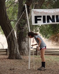 050 Punching The Finish (saschmitz_earthlink_net) Tags: california statepark losangeles orienteering santamonicamountains topangacanyon losangelescounty 2015 laoc losangelesorienteeringclub