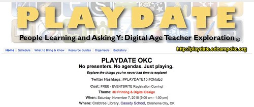 PLAYDATE Oklahoma City: 3D Printing by Wesley Fryer, on Flickr