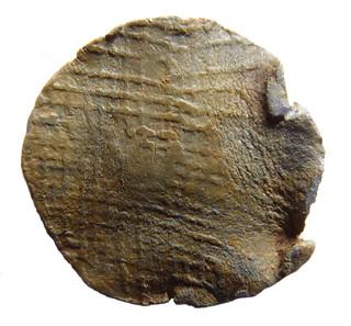 Medieval lead token (rev)