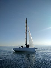 Ma Yo 637 - The Homemade wooden sailing boat (h2bob) Tags: wood party boat sailing homemade mayo woodenboat plywood varo woodboat homemadeboat woodensailingboat mayo637