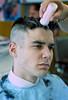 Aristotelis Flat-top n6 (John Elmslie) Tags: street portrait haircut toronto west men flat top queen barber flattop hairstylists aristotelis