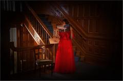 Red Wedding Dress (RiverBearPhoto) Tags: wedding red canada castle robert vancouver island photo dress columbia victoria jackson leon british mansion craigdarroch dunsmuir riverbear