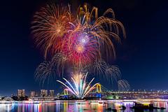 Odaiba Rainbow Fireworks 2015 (December 5th) (45tmr) Tags: japan tokyo nightscape fireworks 東京 odaiba 夜景 お台場 花火 pentaxk3