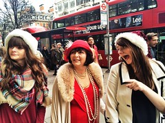 Christmas spirit 101 (Rob Pearson-Wright) Tags: christmas street uk london photography women candid oxfordstreet iphone mobilephotography iphoneography